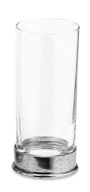 Pewter & glass soft drink glass