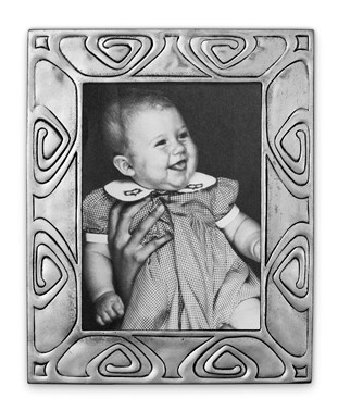 Pewter Art-Nouveau picture frame extra small 8,5 cm x 10 cm
