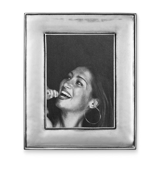 Pewter wide picture frame 21 cm x 26 cm  (13 cm x 18 cm)