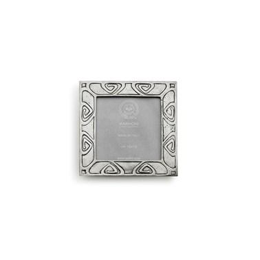 Pewter Art-Nouveau picture frame square 13 cm x 13 cm ( 10 cm x 10 cm )
