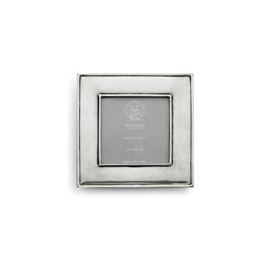 Pewter wide picture frame square 15,5 cm x 15,5 cm (10 cm x 10 cm)