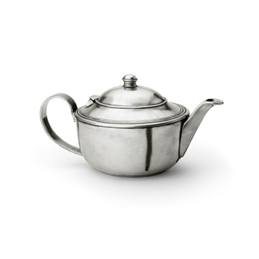 Pewter oval teapot