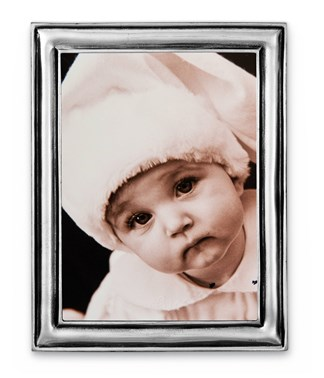 Pewter narrow picture frame extra small 10 cm x 13 cm  ( 7 cm x 10 cm )