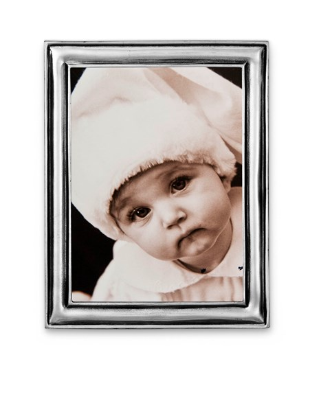 Pewter narrow picture frame small 13 cm x 17 cm  ( 10 cm x 14 cm)