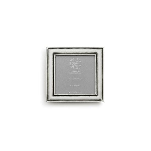 Pewter square picture frame large 16cm x 16cm ( 13cm x 13cm)