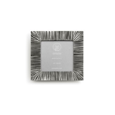 Pewter grooved picture frame square 15,5 cm x 15,5 cm (10 cm x 10 cm)