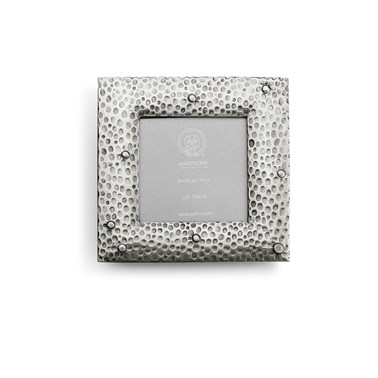 Pewter hammered picture frame square 17 cm x 17 cm (10 cm x 10cm)