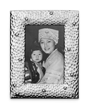 Pewter hammered picture frame small 17,5 cm x 22,5 cm (10 cm x 15 cm)