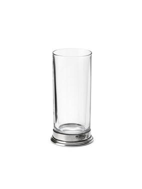 Pewter & glass Highball glass
