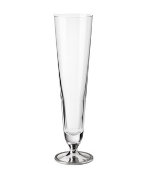 Beer glass with pewter foot large