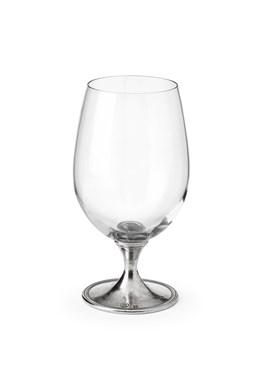 Pewter stem beer glass