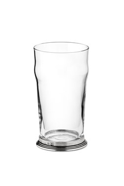 Pewter & glass nonic beer glass