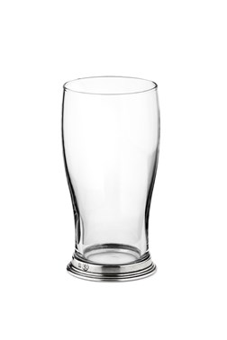 Pewter & glass tulip beer glass