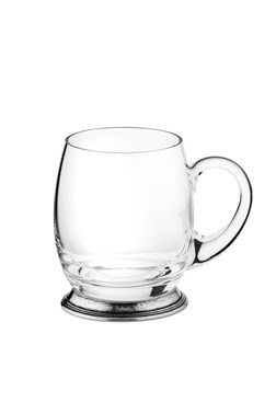 Pewter & glass mug