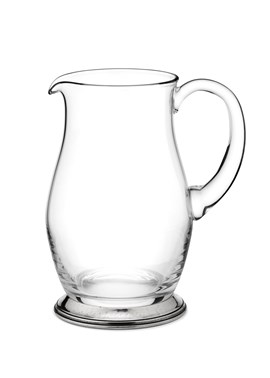 Pewter & glass water jug