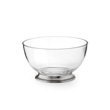 Pewter & Glass Salad Bowl