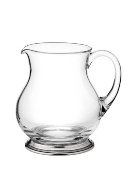 Pewter and glass pitcher Large