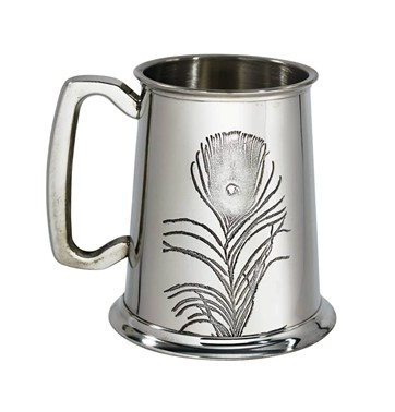Peacock 1 pint Pewter Tankard