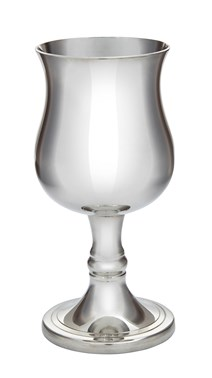Small Georgian Pewter Goblet