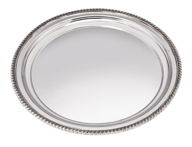 Large Gadroon Rim Pewter Tray