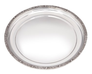 Medium Celtic Rim Pewter Tray