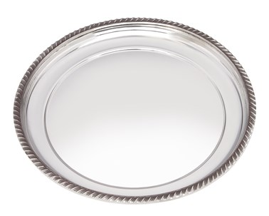 Medium Gadroon Rim Pewter Tray