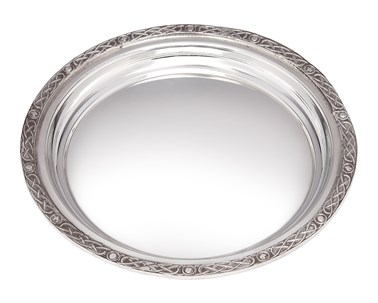 Small Celtic Rim Pewter Tray