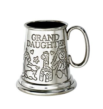 Grand Daughter pewter quarter pint baby Mug