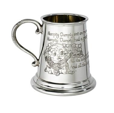 Humpty Dumpty quarter pint pewter baby Mug