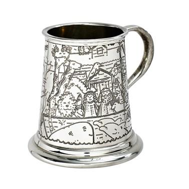 Noahs Ark  quarter pint pewter baby mug