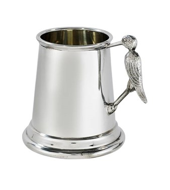 Stork Handle pewter quarter pint baby Mug
