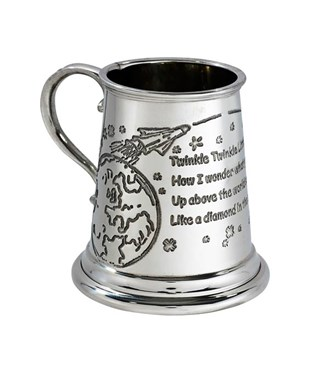 Twinkle Twinkle Little Star Pewter Baby Mug