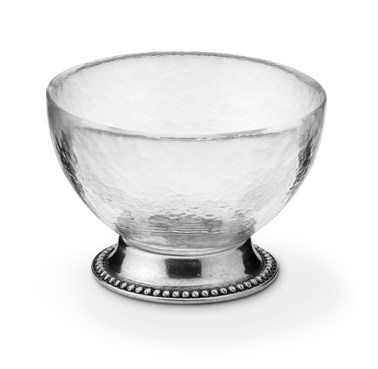 Pewter & Glass Bollicine Compote Dish