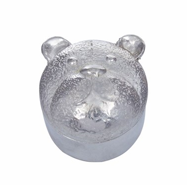 Cast Pewter Bear Trinket Box