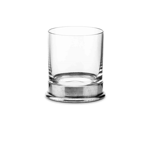 Pewter & Glass Whisky Glass