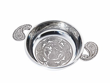 Large Paisley pewter Quiach