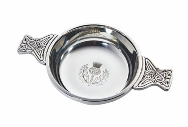 Large Thistle pewter Quaich