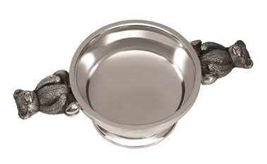 Teddy handle Pewter Quaich