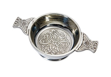 Standard Celtic circle pewter quaich