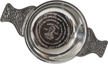 250th commerorative engraved BURNS Quaich