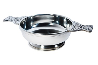Extra Large Pewter Quaich