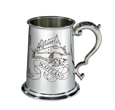 Scotland 1 pint pewter Tankard