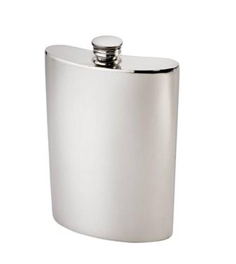 10oz Plain Pewter Kidney Hip Flask