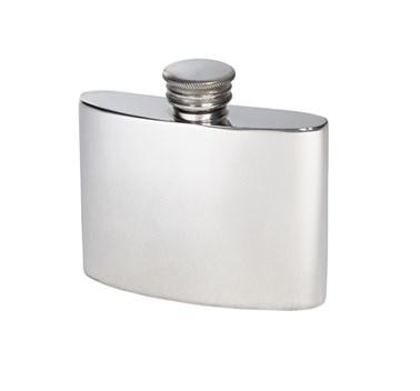 2oz Plain Pewter Kidney Flask