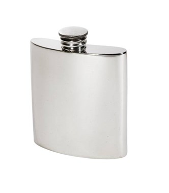 3oz Plain Pewter Kidney Hip Flask