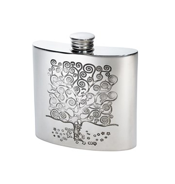 4oz Tree of Life Tree Pewter Kidney Flask