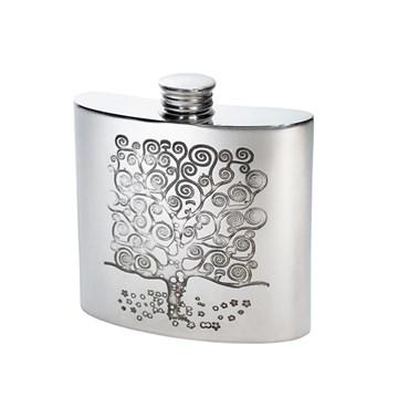 4oz Tree of Life Tree Pewter Kidney Flask