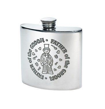 Father of the Groom 4oz pewter kidney flask
