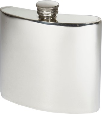 6oz Plain pewter kidney hip flask