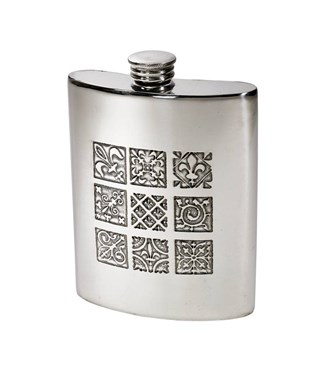 6oz Medieval pewter Kidney hip Flask
